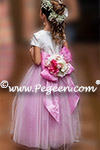 Hot Pink and Ivory Flower Girl Dresses