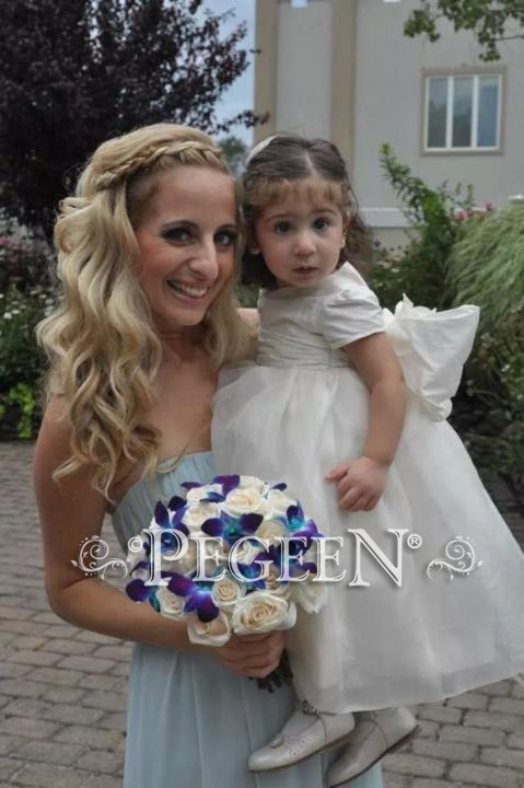 Ivory silk flower girl dresses