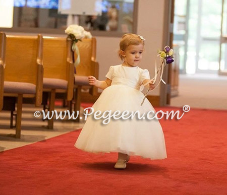 FLOWER GIRL DRESSES in Antique White - Pegeen Couture Style 402