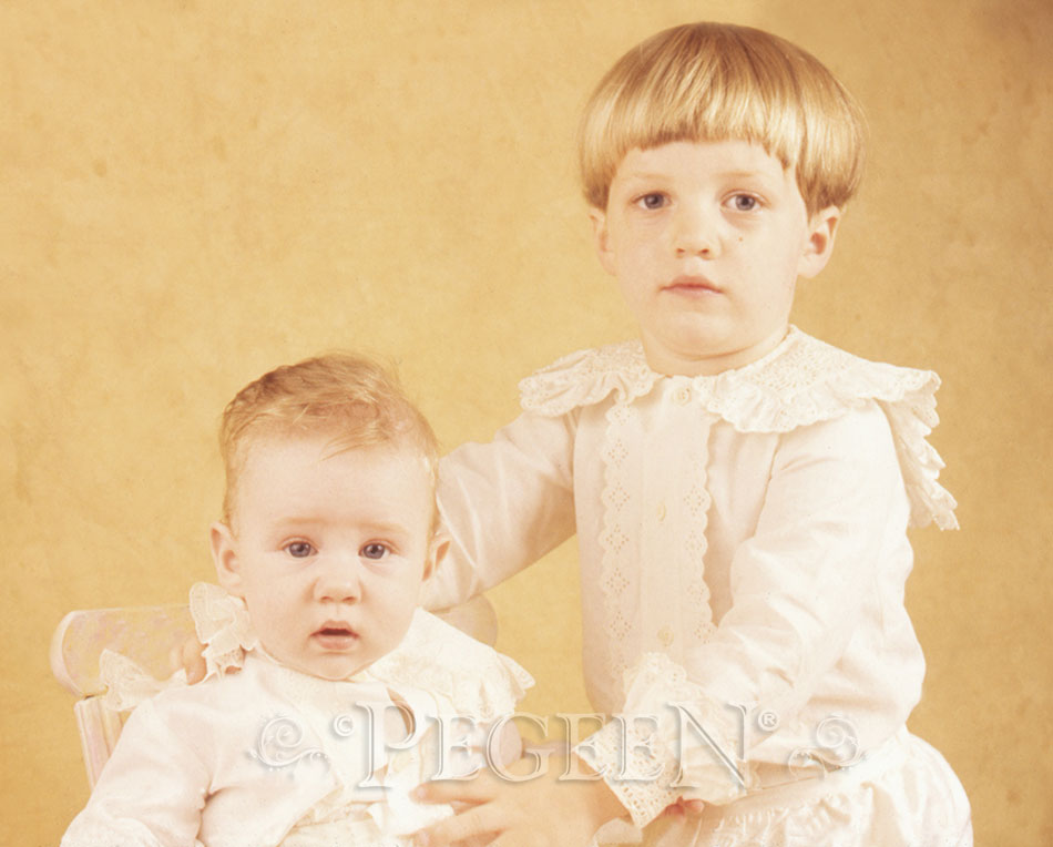 Heirloom Type Portrait of Boy's in Ringbearer Suits