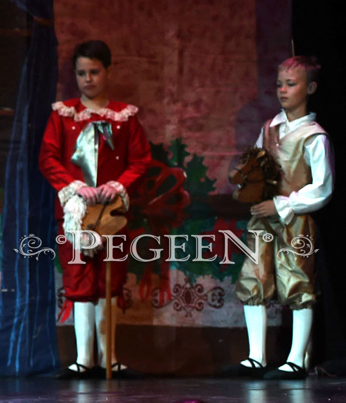 Nutcracker Boy's Style 540 - Ring Bearer set in red and green | Pegeen