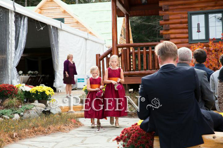 Cranberry and Pumpkin Flower Girl Dress of the Month - Mar/Apr 2018
