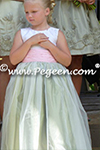 Flower Girl Dress in green and pink