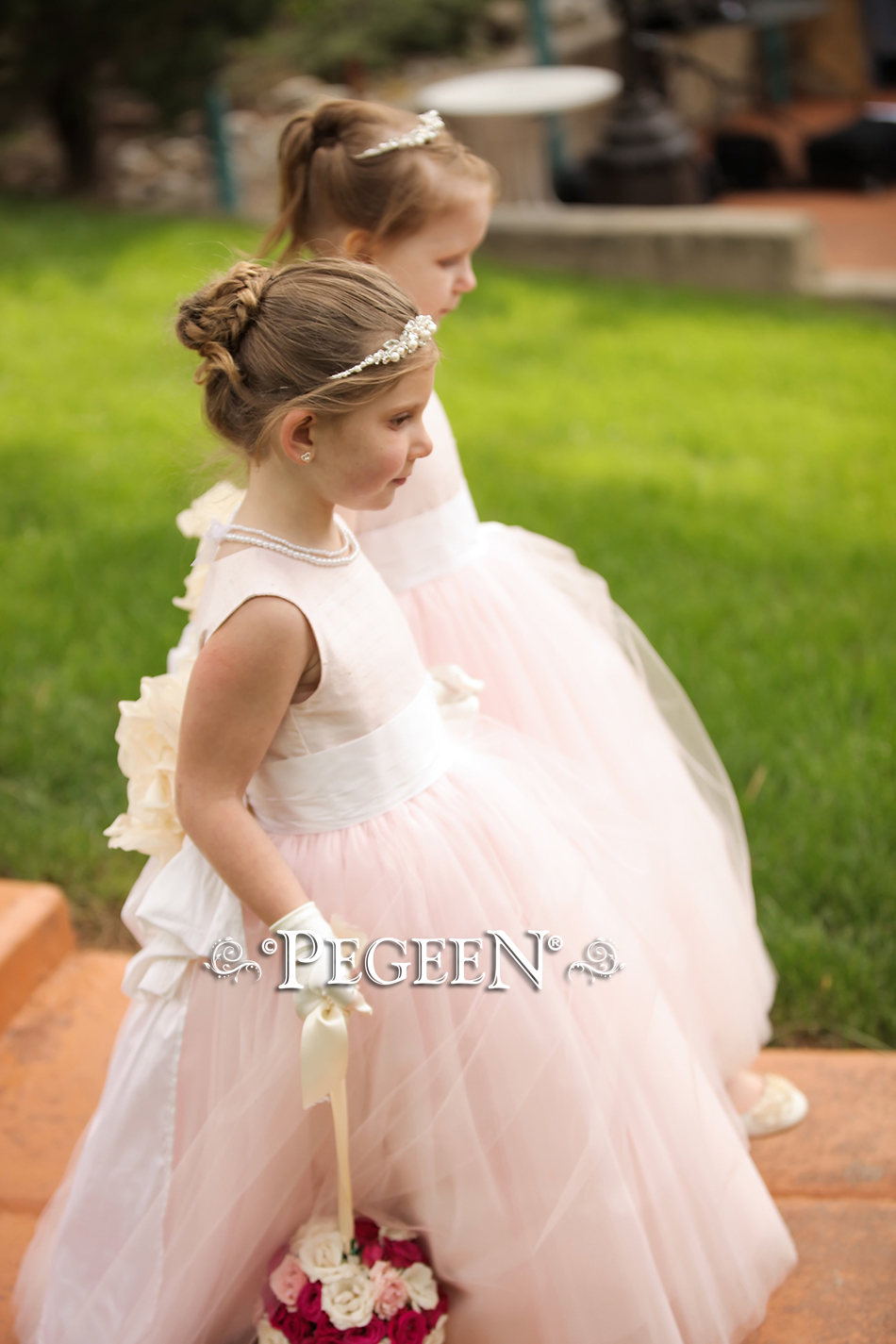 Flower Girl Dress of the Month - June 2017 features a Marie Antoinette Style wedding