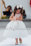 Ballet Pink and Ivory Tulle Silk Flower Girl Dresses