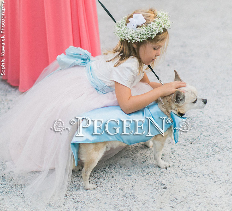 Pastel Blue and Pink Flower Girl Dress of the Month - May 2018
