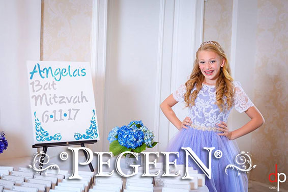 Bat Mitzvah Dress in Periwinkle Style 930 Event of the Month