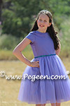 Periwinkle Bat Mitzvah Dress for event in Israel