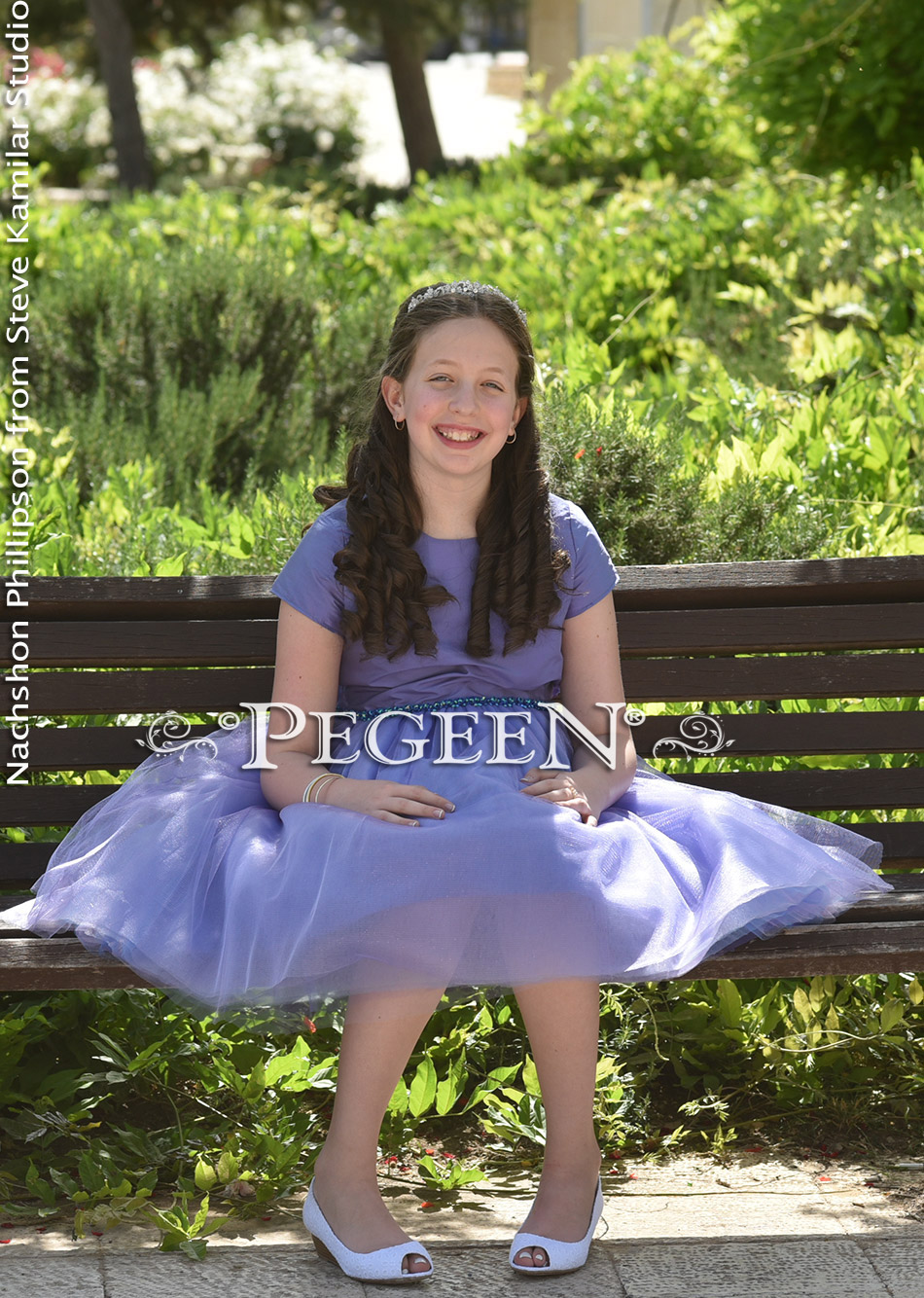 Periwinkle Bat Mitzvah/Jr. Bridesmaid Dress - February 2017 | Pegeen