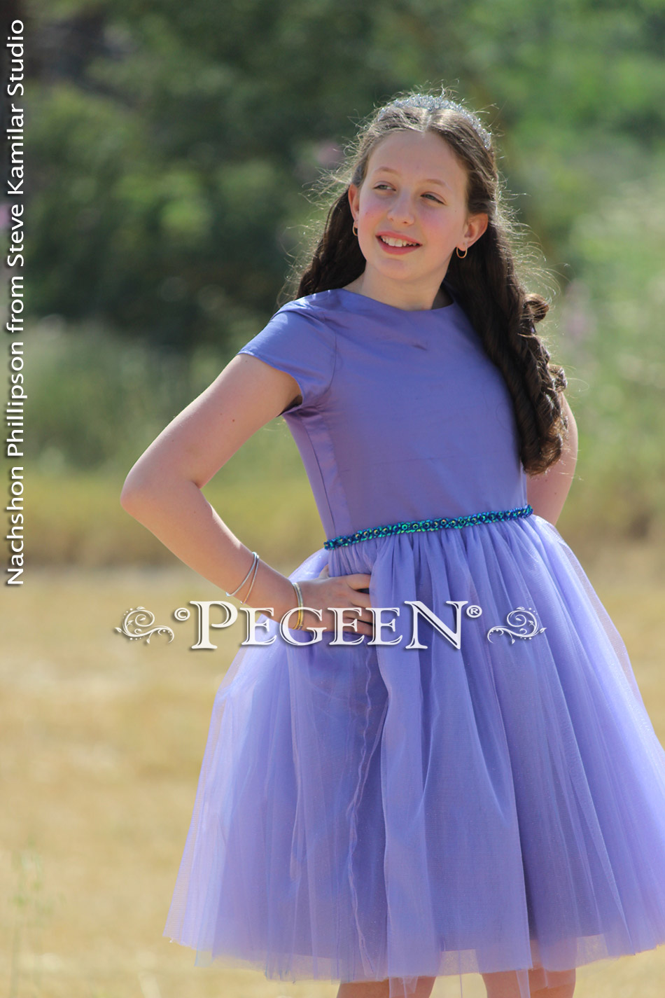 Jr Bridesmaids or Bat Mitzvah Dress in Periwinkle Style 931
