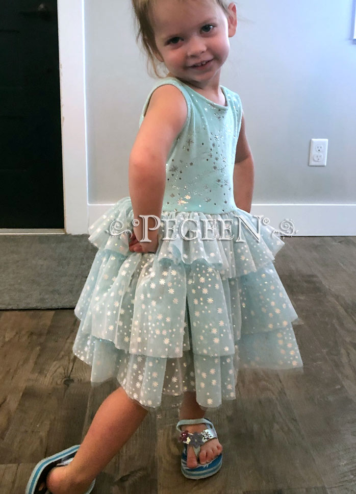 Elsa Frozen Princess Everyday dress Style 1103