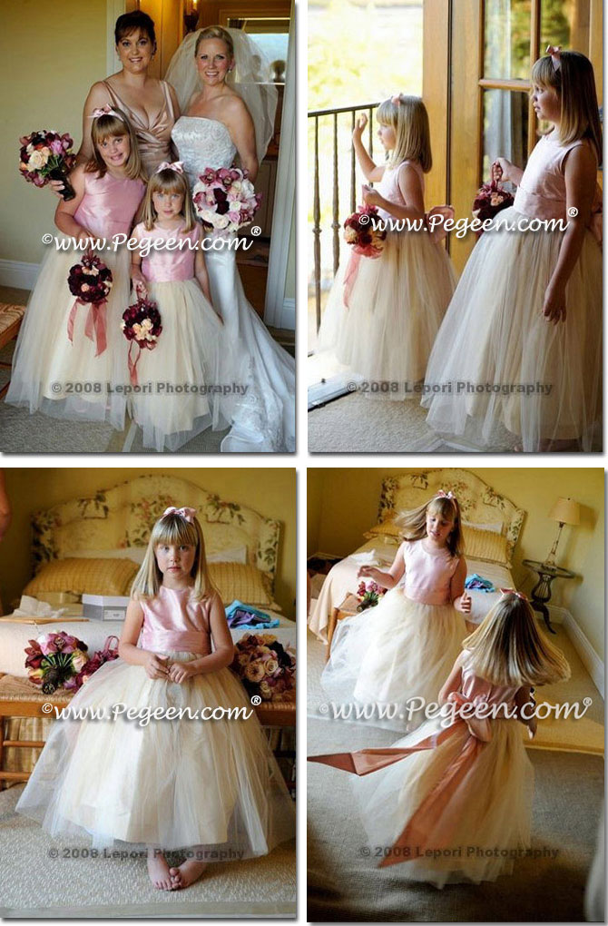 Style 356 Watermelon, Sorbet, Buttercreme and Ivory Tulle