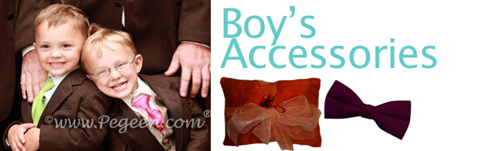 Boy's accessories like ties, ring bearer pillows and more