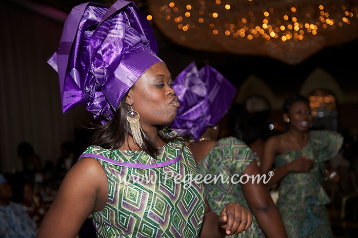 Purple and Green themed Weddings