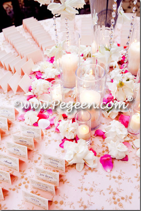 pink and ivory theme wedding of the year