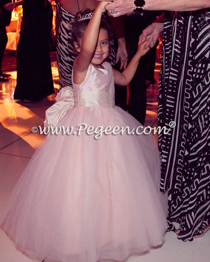 Flower girl dress of the year - Flower girl dresses of the year  Style 402 - Degas Style Tulle Flower Girl Dress in Ballet Pink and Bisque or Ivory by Pegeen.com