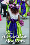 Purple and Lime Flower Girl Dresses of the Year Honorable Mention 2011