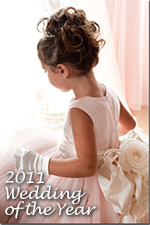 Pegeen Tulle Flower Girl Dress of the year 2011 with PEGEEN signature Bustle