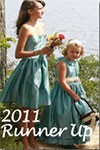 Creme and Teal 2011 Flower Girl Dress/Wedding of the Year Runner Up