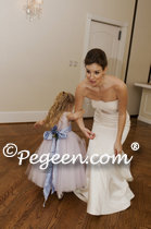 2012 Flower Girl Dress of The Year in Wisteria and Lavender Tulle and Silk Pegeen Couture Style 402