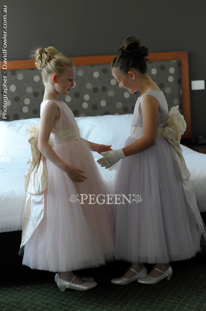 2013 Wedding and Flower Girl Dress of the Year in light lavender and peony pink