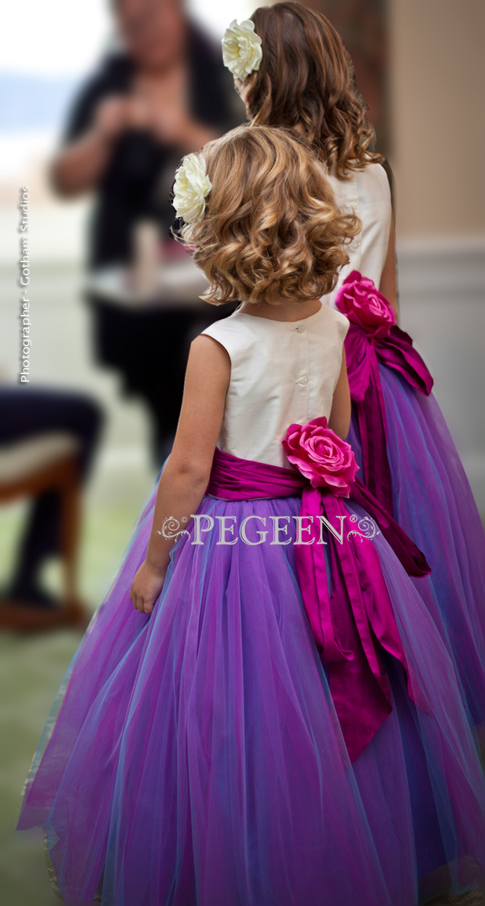 2013 Flower Girl Dress Runner Up In Hot Pink Amp Purple