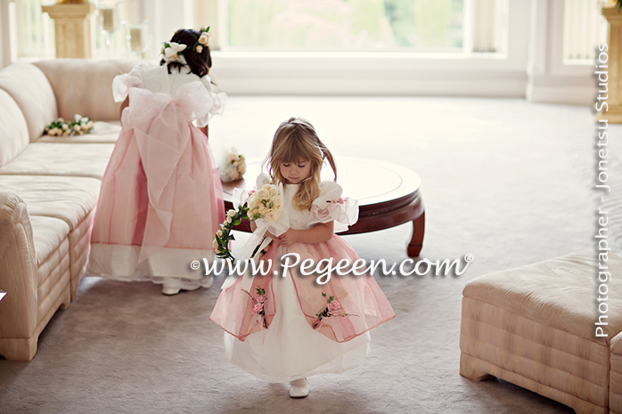 Silk Flower Girl Dresses from the Regal Dress Collection - Princess Alexandria