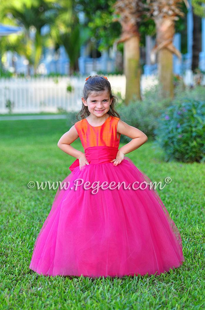 Boing and Mango  ballerina style FLOWER GIRL DRESSES with layers and layers of tulle