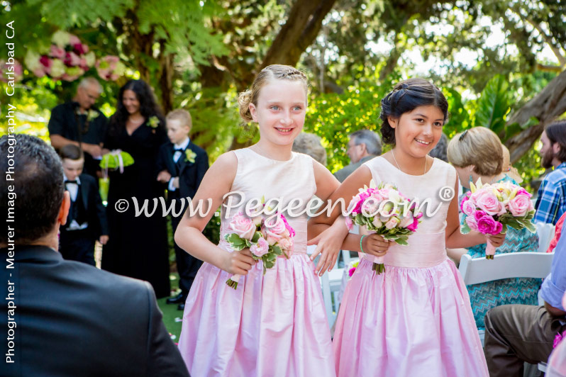 Flower Girl Dress of the Year in Shades of Pink Silk