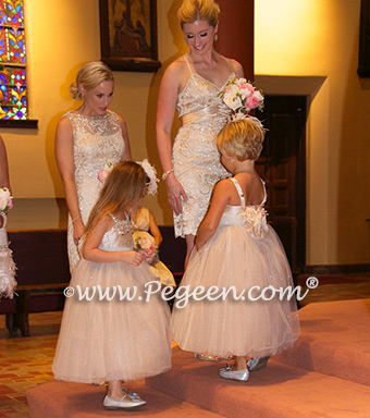 Platinum Wedding of the Year 2015 in Toffee Style 904 - From the Fairytale Flower Girl Dress Collection in Silk and Tulle and Swarovski Crystals