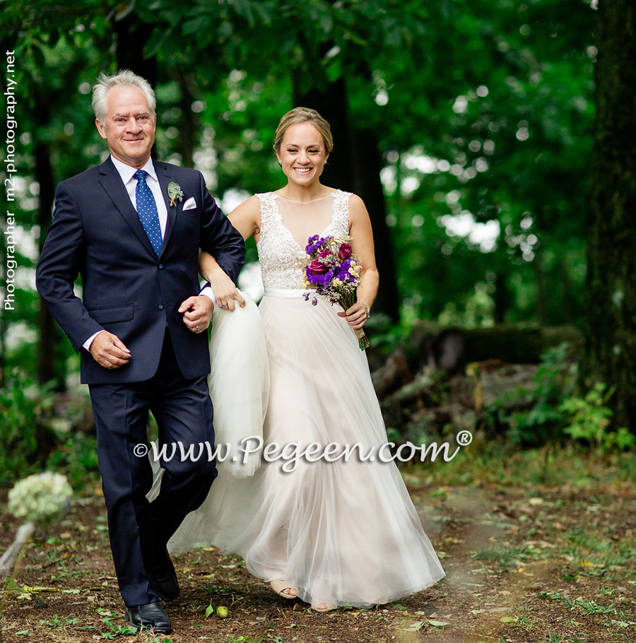 2016 backyard wedding and flower dress of the year pegeen