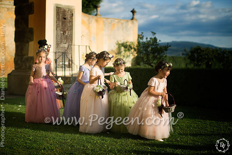 Canyon pink tulle flower girl dress from the Pegeen Fairy Tale Collection