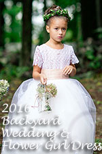 Backyard Wedding/Flower Girl Dress of the Year