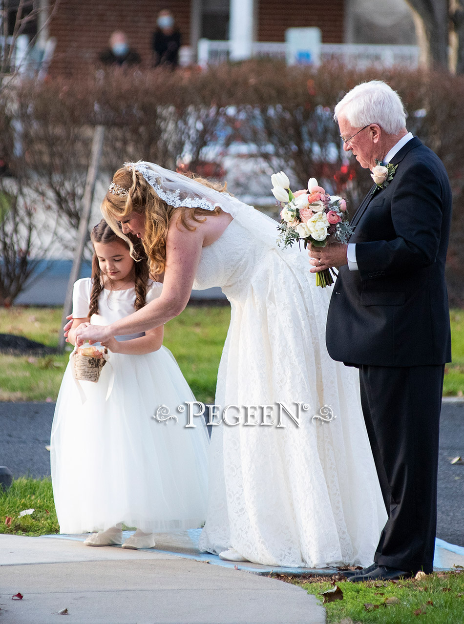 A covid wedding and a pretty special flower girl dress