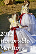 Wheat and Claret Red Flower Girl Dresses of the Year Honorable Mention 2012