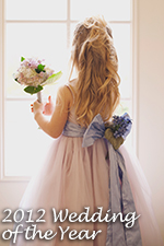 Our Lavender and Wisteria silk and tulle dress with flowers - our 2012 Flower Girl Dress of the Year